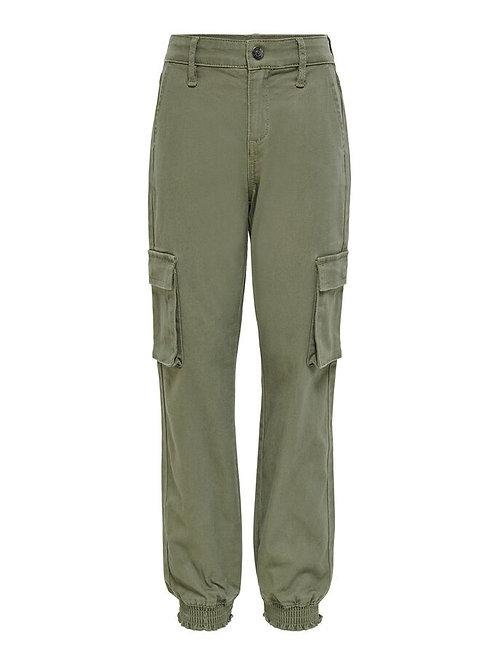 Pantalón de cargo verde bolsillos niña