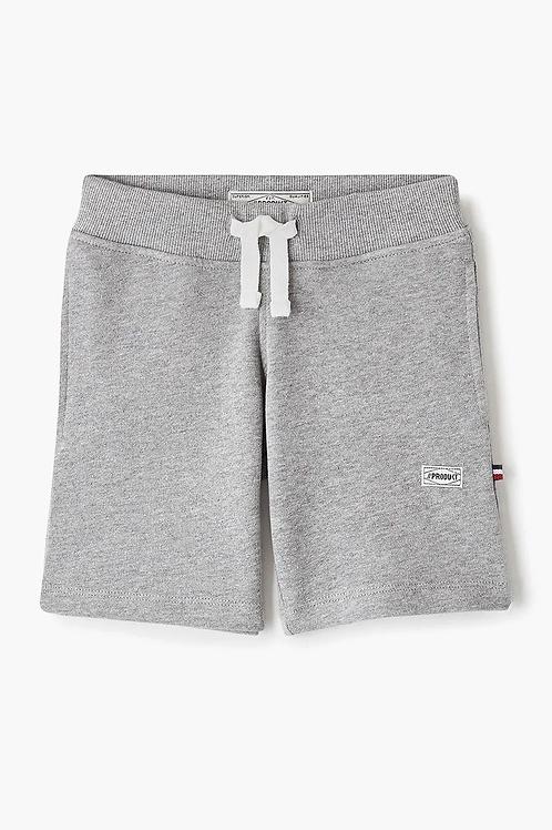Pantalón corto de chándal gris organic cotton