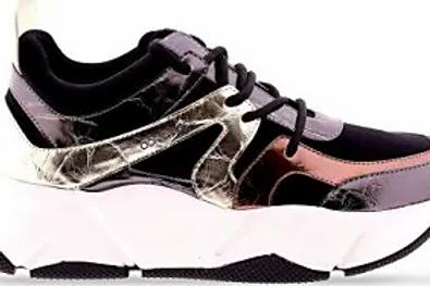 Zapatillas metalizadas negras 460001