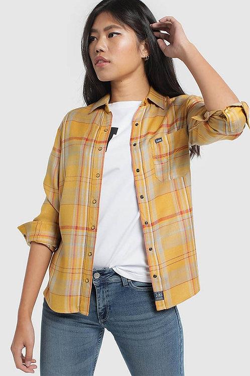 Camisa cuadros LOIS amarilla 400002