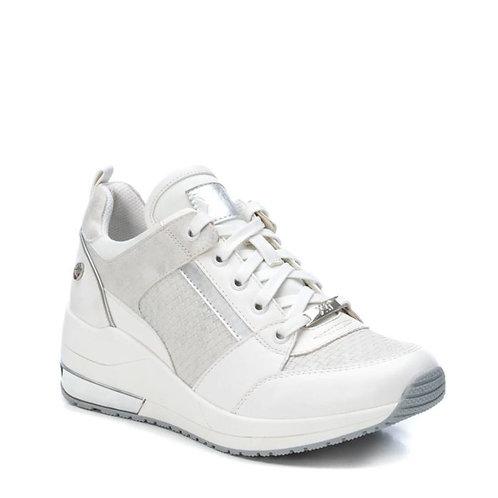 Zapatillas blanco-plata 450009