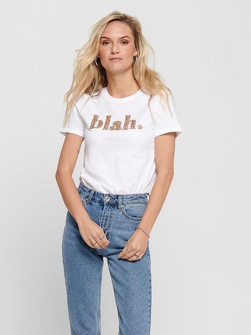 Camiseta ONLY blah. 340049