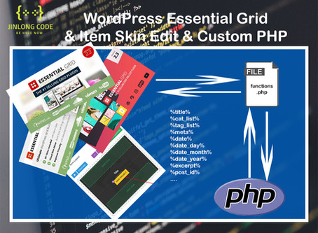 WordPress Essential Grid & Custom PHP with do_shortcode