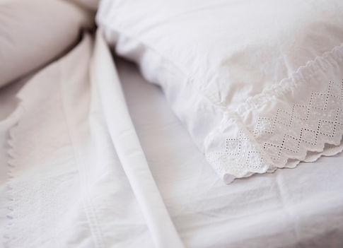 Kissen und Bettlaken