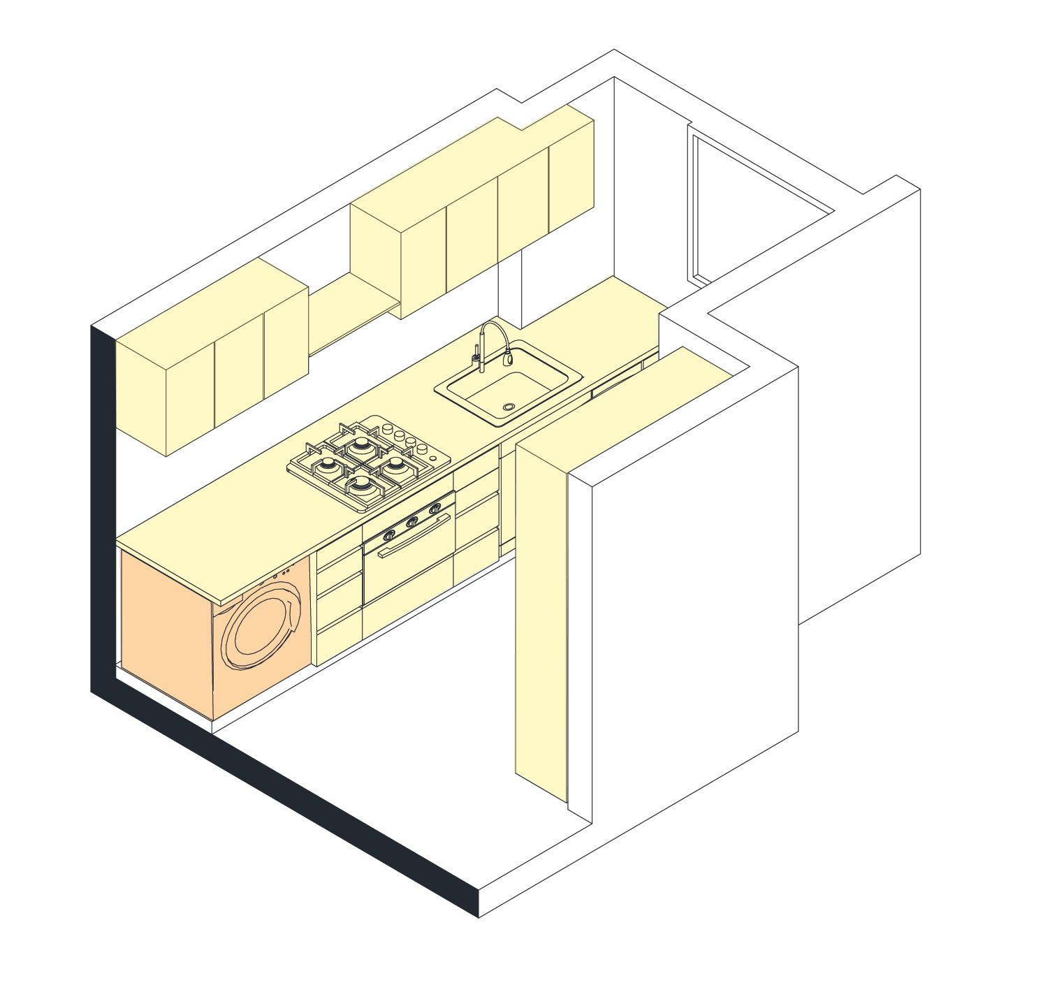 esquemas cocina Apartamento Cabrera desp