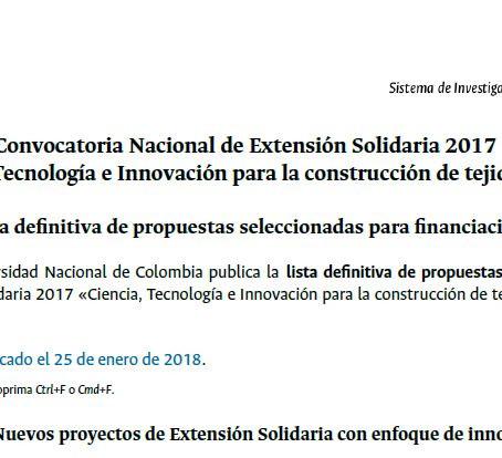 ¡SISTEMA DE VIVIENDA RURAL SELECCIONADO EN CONVOCATORIA DE EXTENSIÓN SOLIDARIA UN!