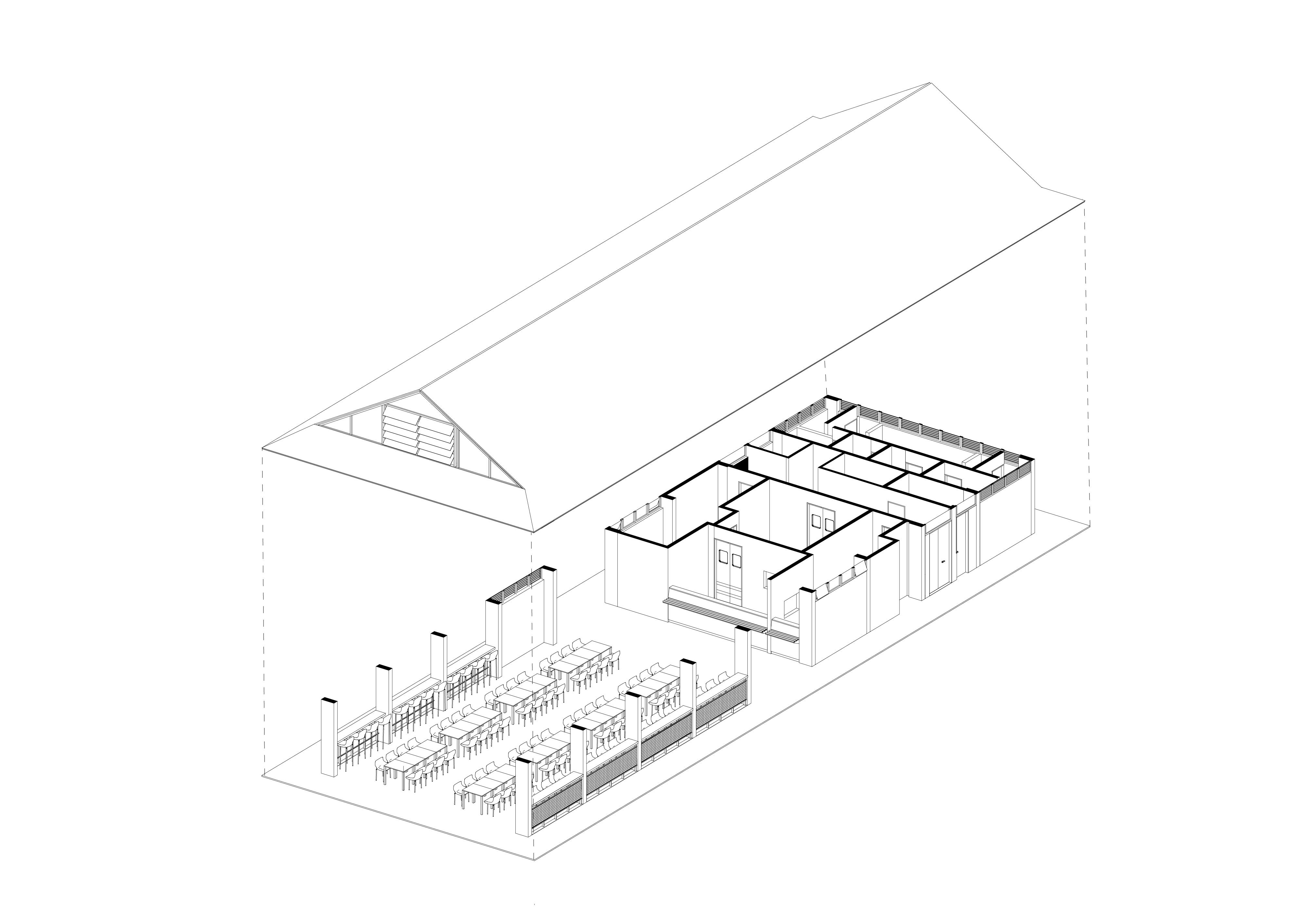 UN Amazonas Axonometria Cafeteria2