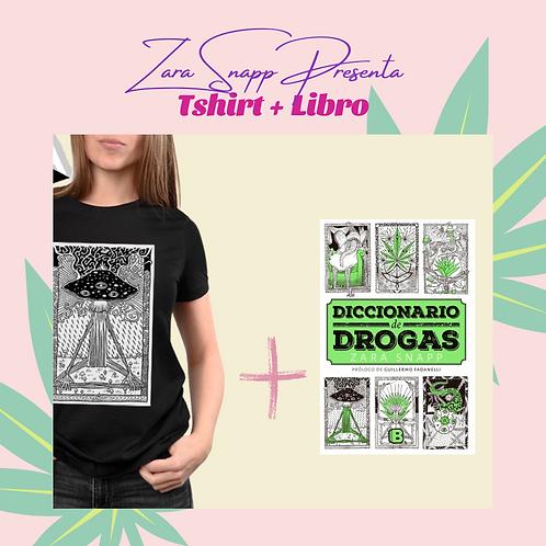 Kit T Shirt + libro Diccionario de drogas de Zara Snapp