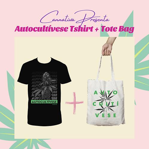 Kit T shirt + Tote bag Cannativa