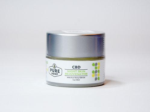 Pure Hemp Crema rejuvenecedora de noche con CBD