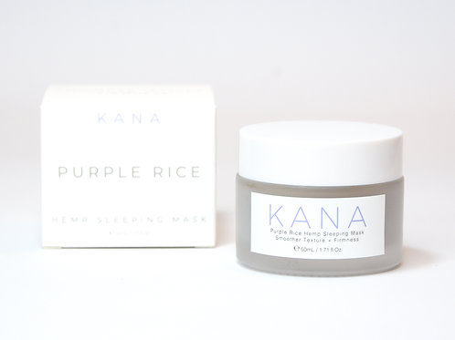 Kana Skincare Sleeping mask Purple Rice con aceite de semilla de cáñamo