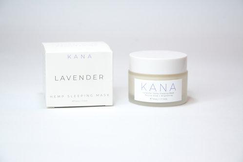 Kana Skincare Sleeping mask Lavanda con aceite de semilla de cáñamo