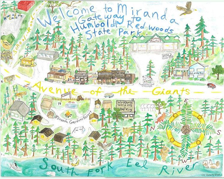 Art Map of Miranda CA by Serenity Wood