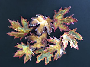 Copper Maple Leaves