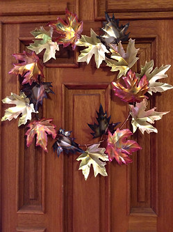 Copper, Brass, and Nickel Leaf Wreath