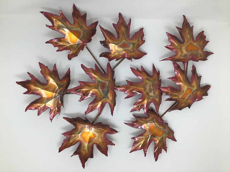 Maple Leaves in Copper