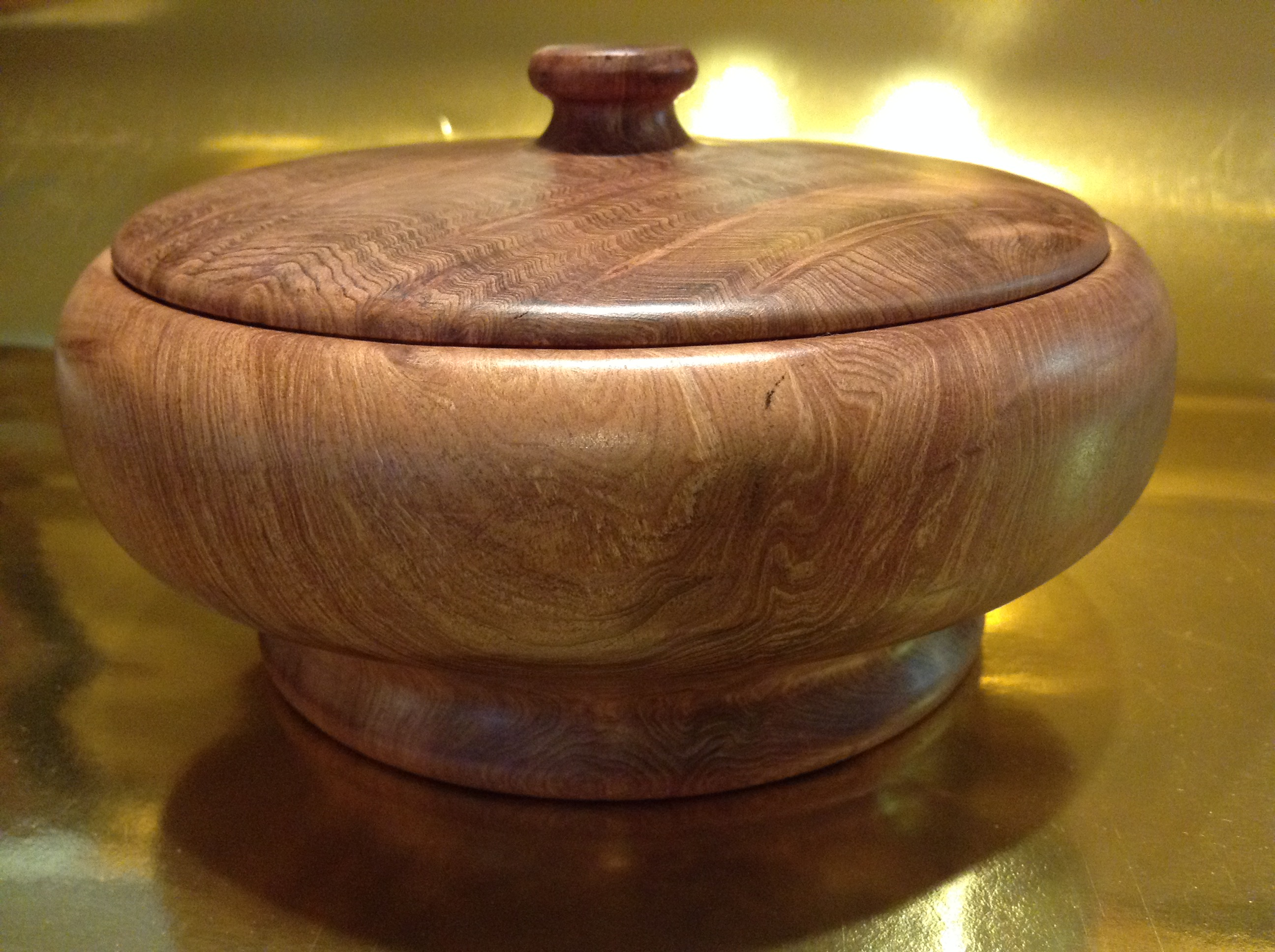 Redwood Lidded Bowl