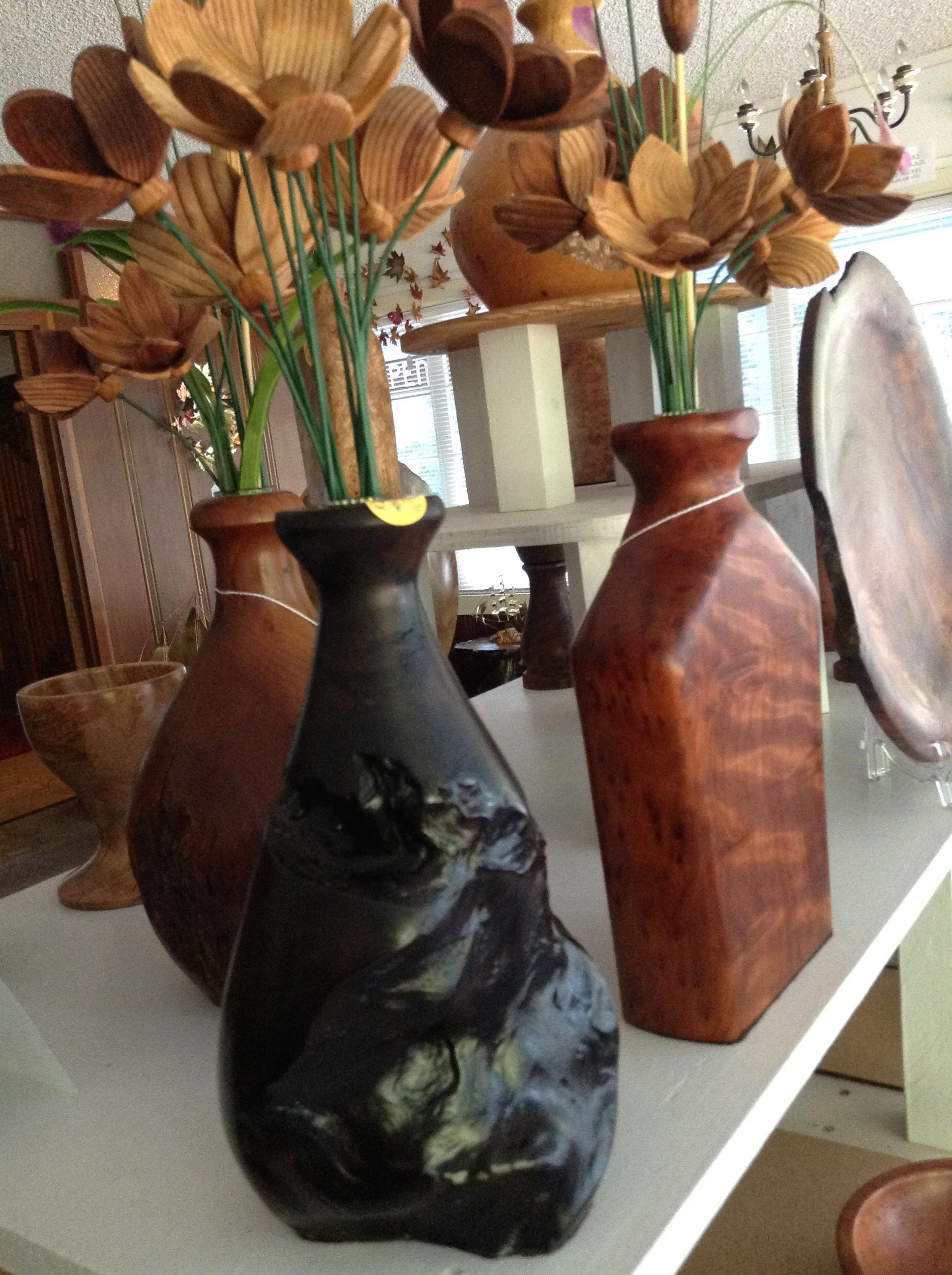 Burl Vases