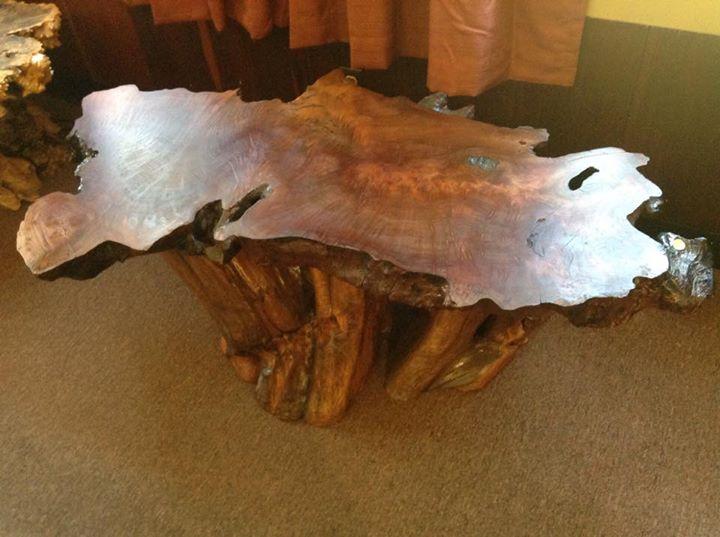 Redwood Burl Tables