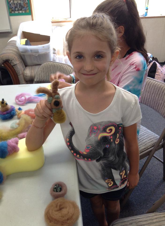 Felting Fun with Day Camp Youth