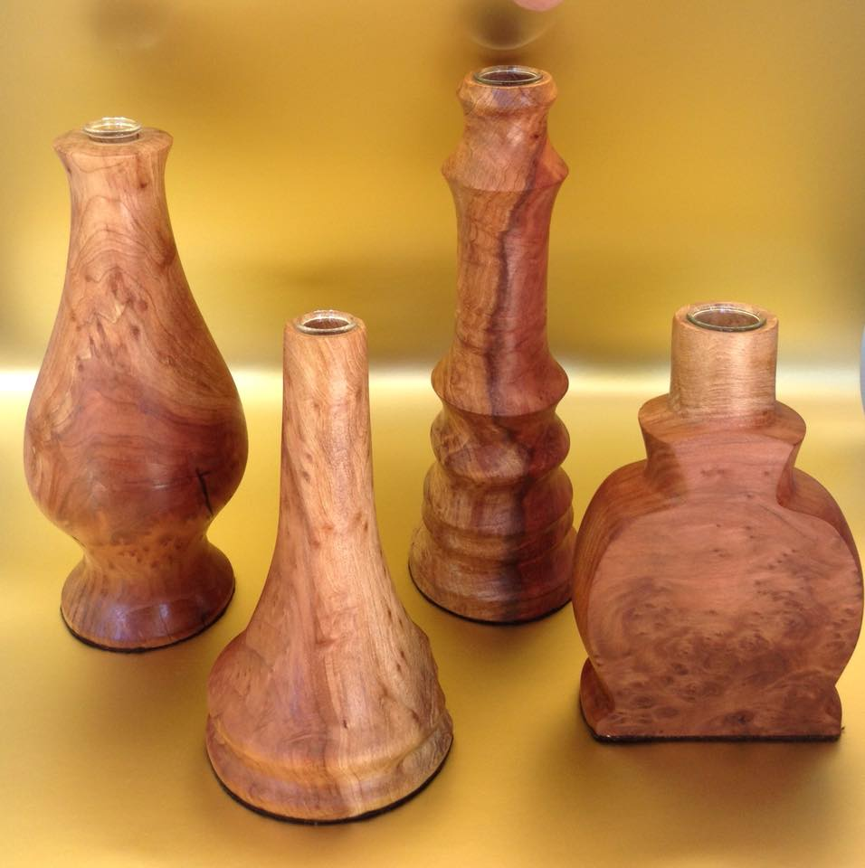 Redwood Burl Vases