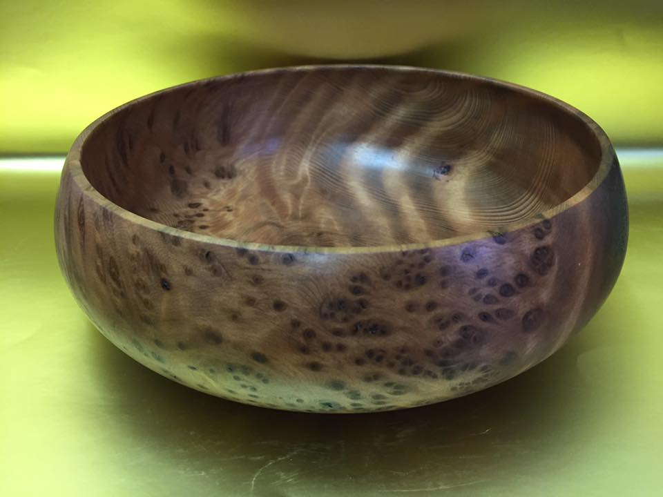Redwood Burl+Curl Salad Bowl