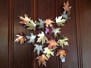 Copper, Brass, and Nickel Maple Leaves with Butterfly