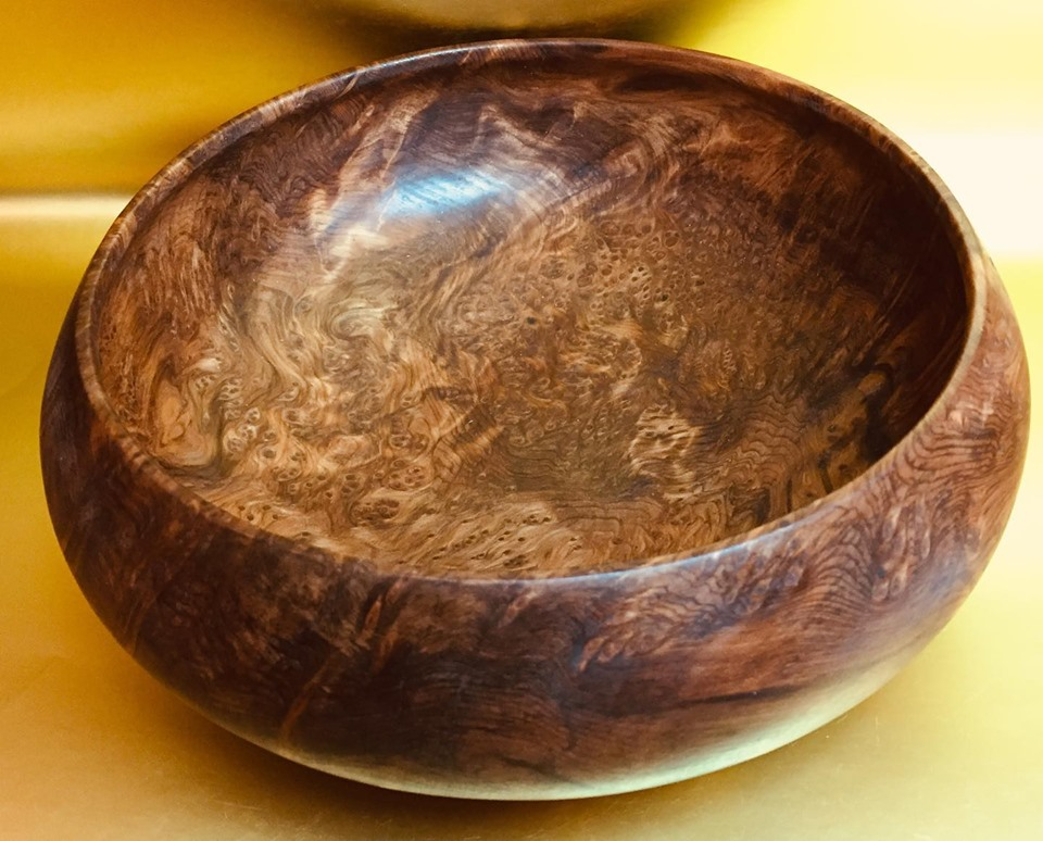 Redwood Burl Salad Bowl