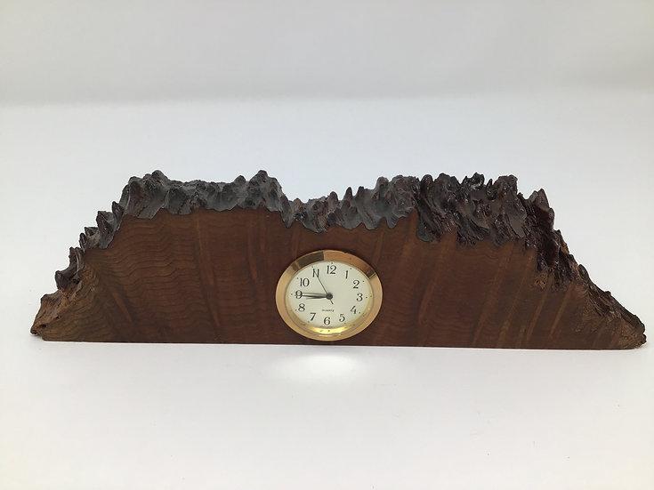 Redwood Burl Mini Clock