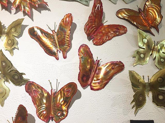 Copper and Brass Butterflies