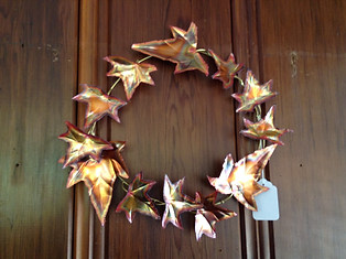 Copper Ivy Leaf Wreath