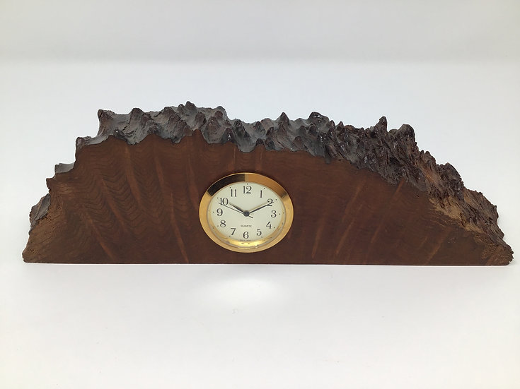 Redwood Burl Mini Clock
