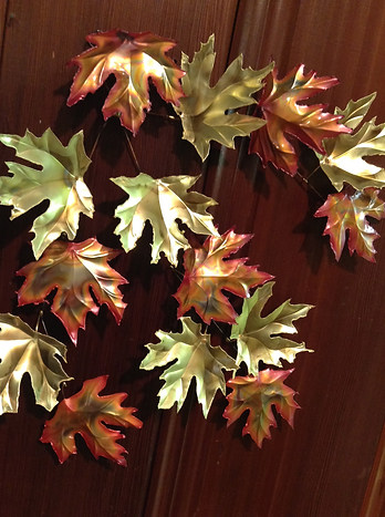 Copper and Brass Maple Leaves