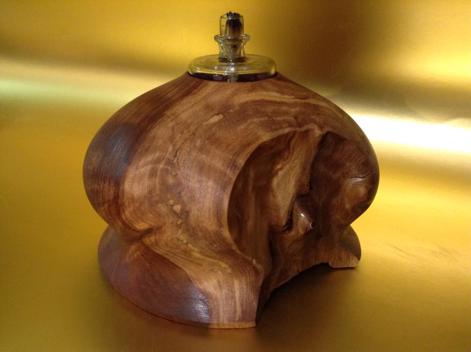 Redwood Burl Tea Light