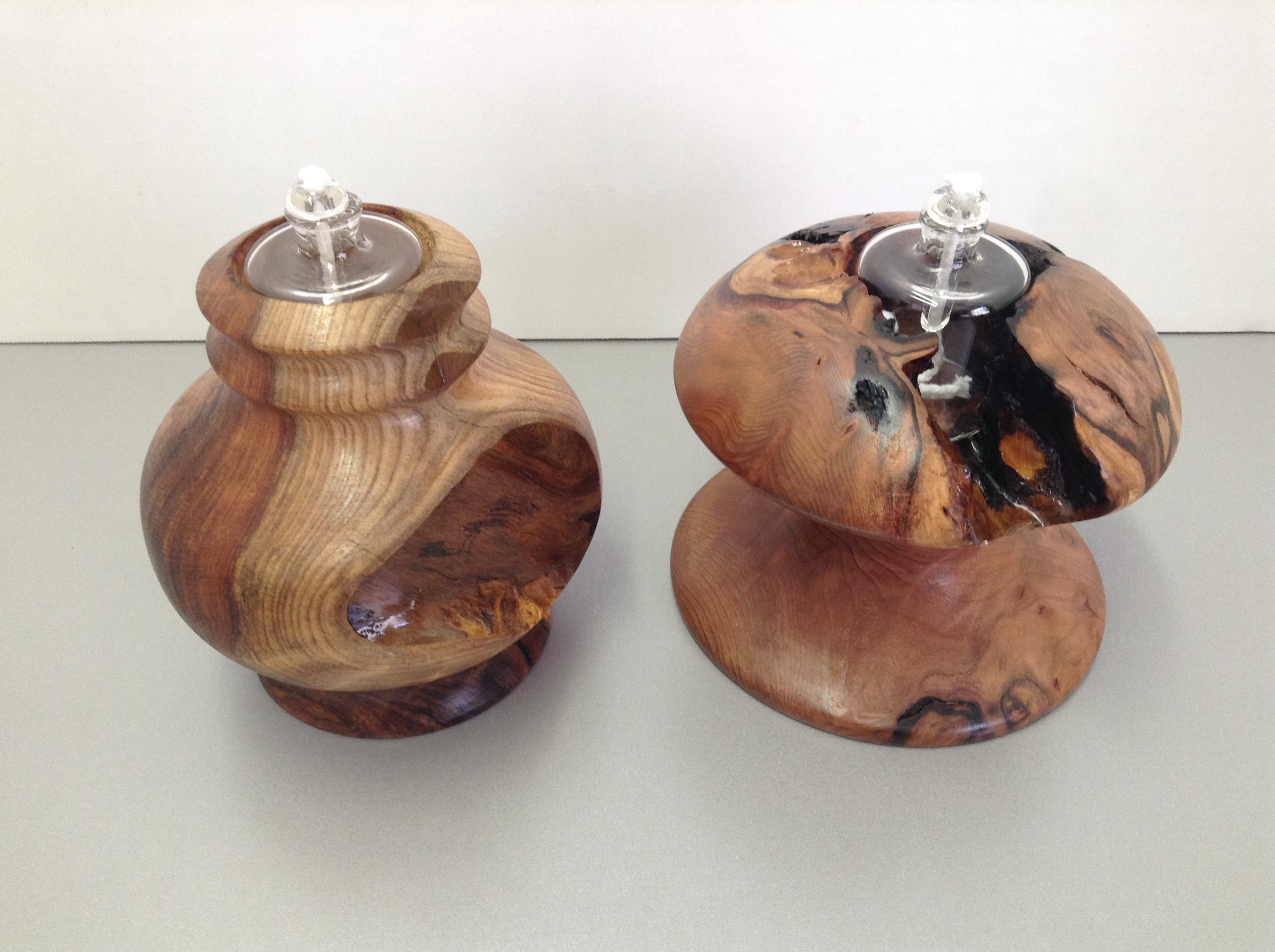 Redwood Burl Tea Lights