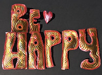 #be #happy #coppersculpture #positiveart