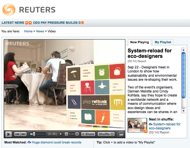 Reuters, London Design Festival