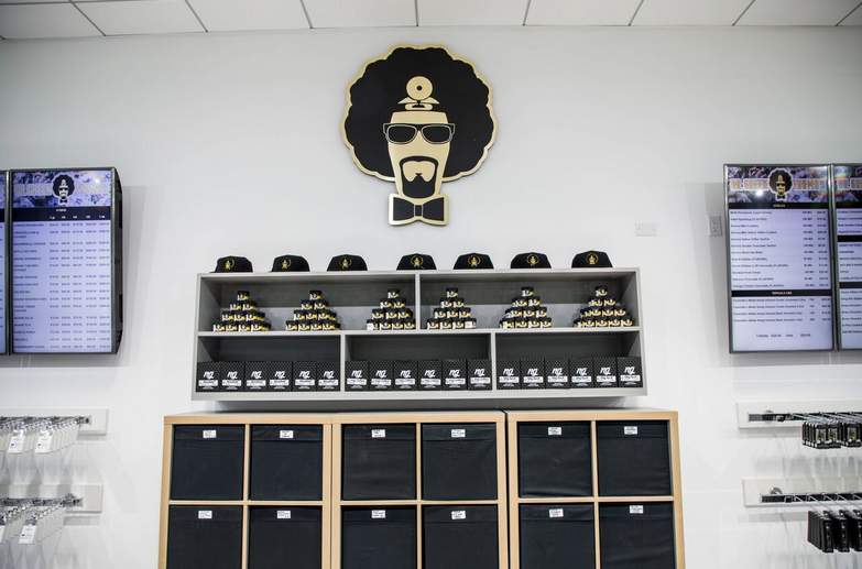 Dr. Greenthumb Dispensary Merch Wall