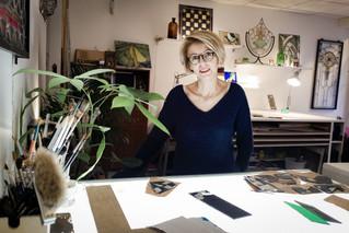 Marie Pierre Bouaziz, la passion du vitrail