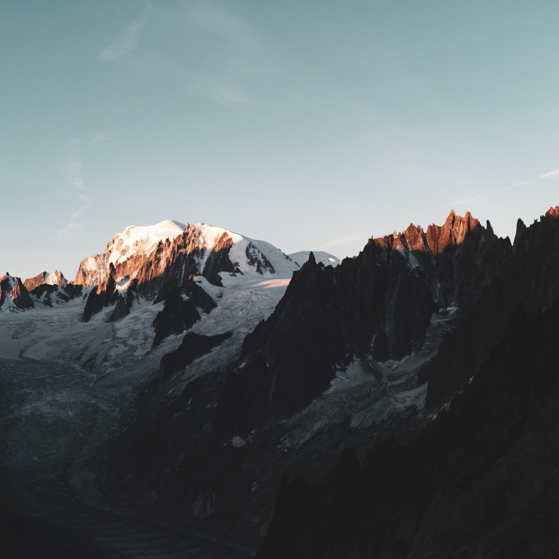Mont Blanc from Couvercle