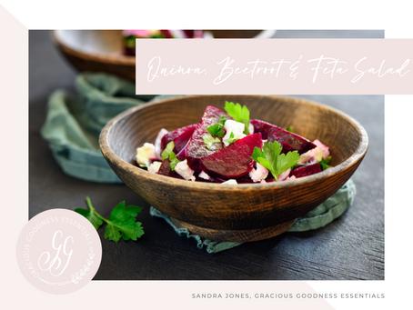 Quinoa, Beetroot & Feta Salad