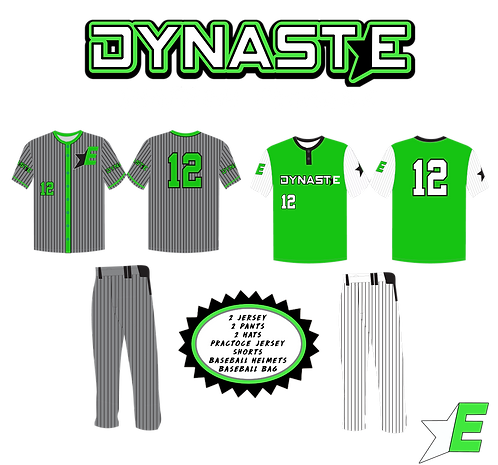 13U And Under Uniform Package