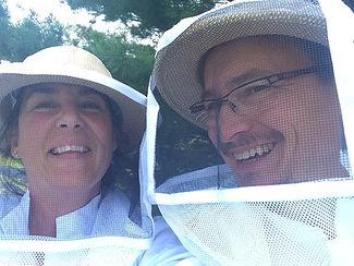 Chef Karl & Paula harvest their own honey for the restaurant.