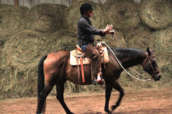 Copy of Burt and Me  riding without reins.jpg