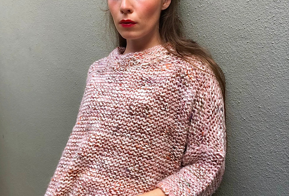 Pull 3/4 La fée MARABOUTEE  Rose