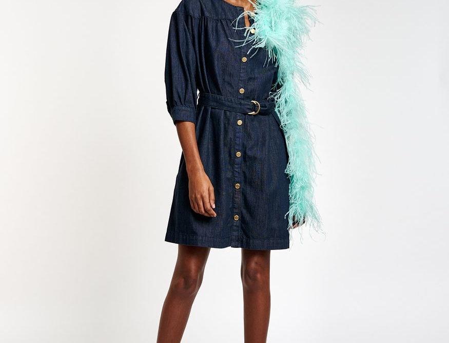 Mini robe jean bleu foncé ESSENTIEL