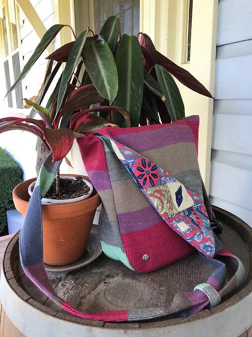 Handmade Upcycled Knit Shoulder Bag