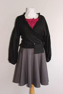 SuzziMaggs Winter Collection 2021 Cotton Wrap Tpo Linen Skirt