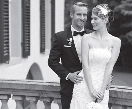 Brudeparet som designet unike gifteringer