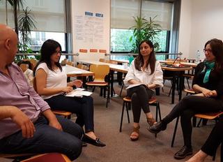 Visita de expertas en formación a Emprendedores de YBI